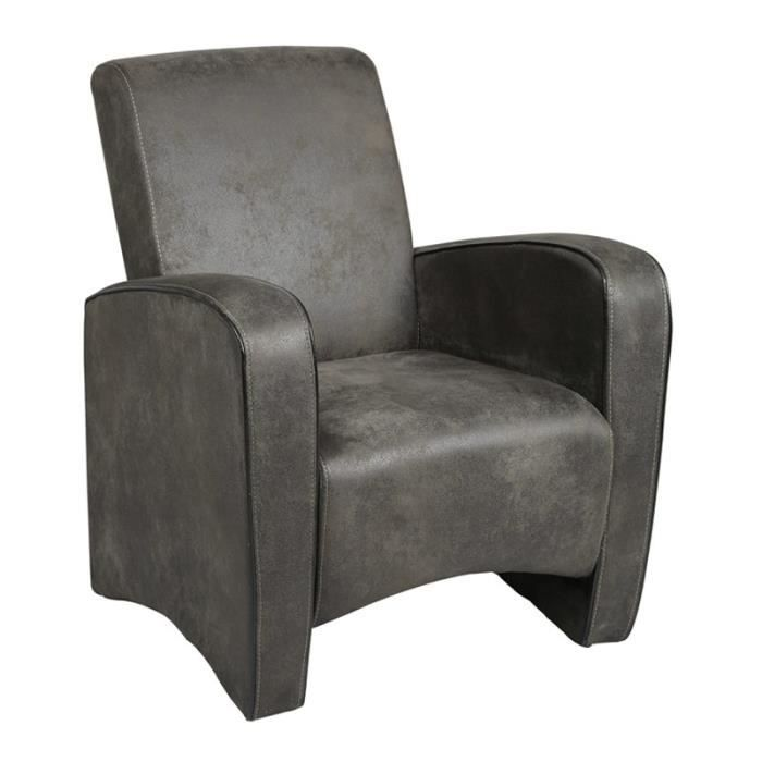 fauteuil club gris king achat vente fauteuil gris. Black Bedroom Furniture Sets. Home Design Ideas