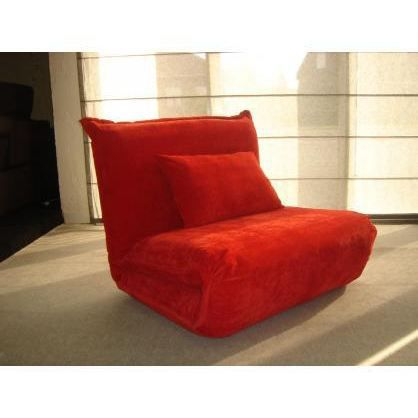 fauteuil convertible microfibre charly rouge achat. Black Bedroom Furniture Sets. Home Design Ideas