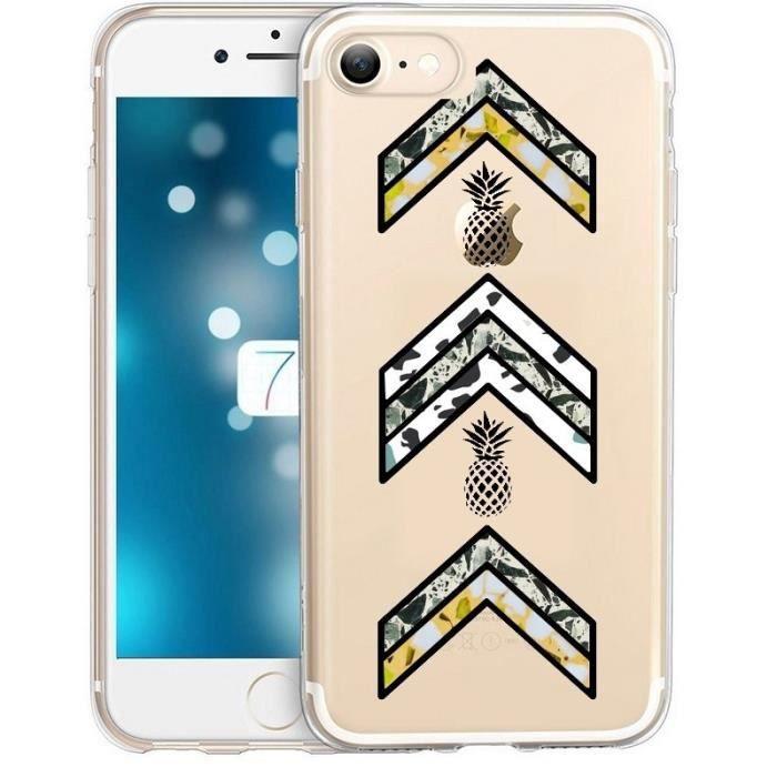 coque iphone 7 plus 8 plus army ananas marbre chev