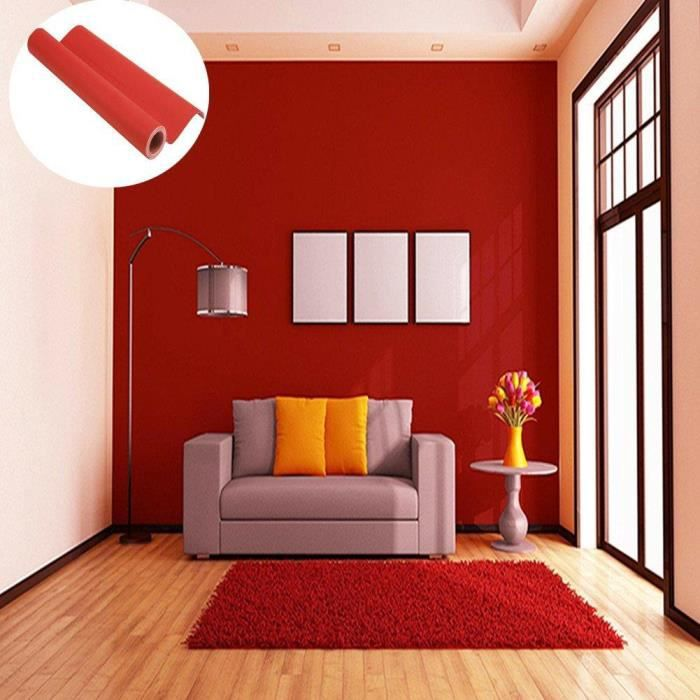 45cmx10M Imperm/éable Papier Peint Auto-Adh/ésif Trompe loeil Stickers Autocollant Muraux D/écoration Murale pour Chambre Salon Meuble Noir