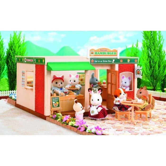 sylvanian families 2807 fast food et drive achat vente figurine personnage sylvanian fast. Black Bedroom Furniture Sets. Home Design Ideas