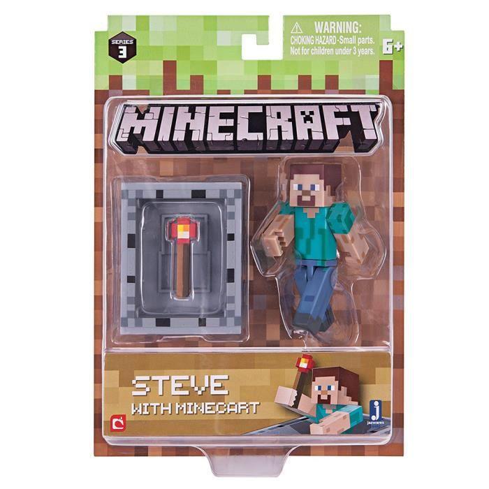 Minecraft 3 pouces Steve Action Figure