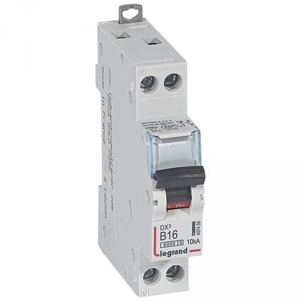 tout à fait stylé incroyable sélection nouveau sélection Legrand 006180 - Disjoncteur magnéto-thermique DX 6000 - Lexic à vis -  Uni+N 230V~ 16A courbe B