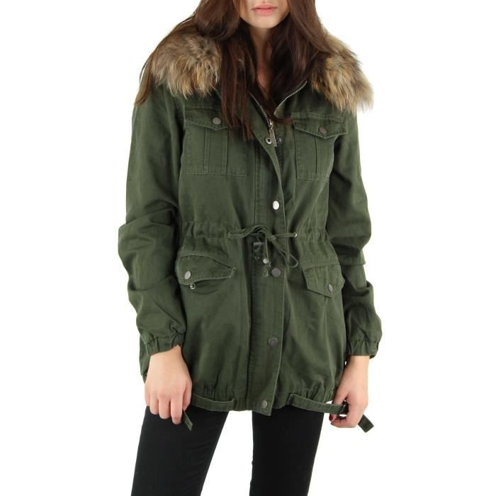parka femme vert achat vente parka cadeaux de no l cdiscount. Black Bedroom Furniture Sets. Home Design Ideas