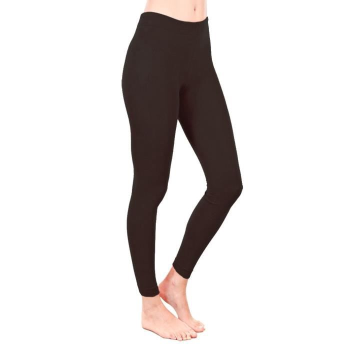 Femme Femmes Polaire Leggings Thermique Chaud épais pleine longueur