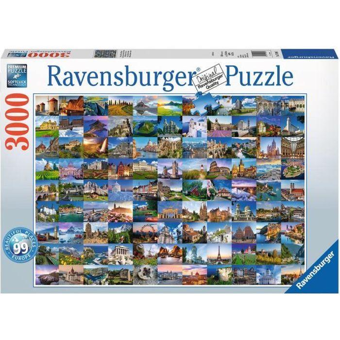 PUZZLE Ravensburger 17080, Puzzle en cubes, Ville, Adulte