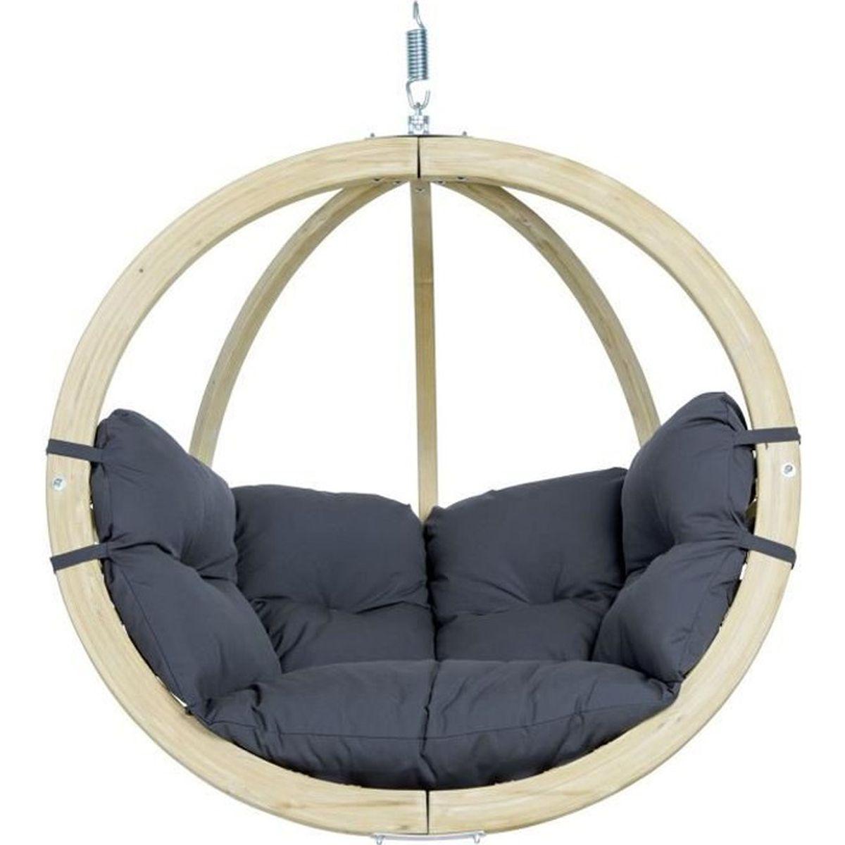 Fauteuil Suspendu D Exterieur amazonas fauteuil suspendu globo - anthracite - achat