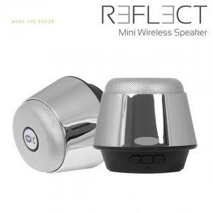 ENCEINTE NOMADE Mini enceinte bluetooth Reflect Chrome  5W avec em