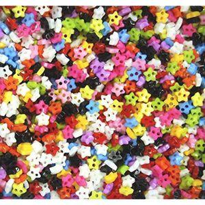 PELUCHE Peluche W6C67 Lot de 1000 boutons - 6 mm STARS MIX