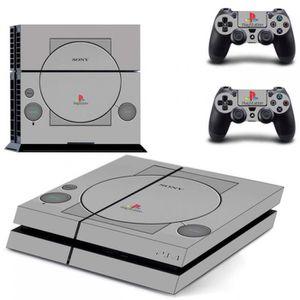 STICKER - SKIN CONSOLE Gris Rétro Pour Playstation Un Ps1 Commémorative É