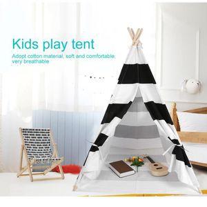 TENTE TUNNEL D'ACTIVITÉ Tente tipi maison pour enfants - noir blanc