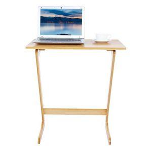 MEUBLE INFORMATIQUE Table pour ordinateur portable en bambou en forme