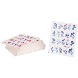 STICKERS - STRASS 50 Feuilles Autocollants à Ongles Stickers de Tran