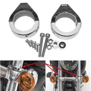 Clignotant moto Fork clamp holder Support 2pcs