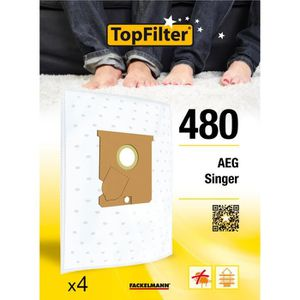 Filtre x 4 Pack VÉRITABLE AEG VAMPYR GR28S gr 28//S sacs d/'aspirateur