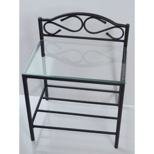 table de nuit metal achat vente table de nuit metal pas cher cdiscount. Black Bedroom Furniture Sets. Home Design Ideas
