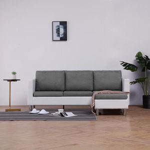 CANAPÉ - SOFA - DIVAN Canapé Design Contemporain - 3 Places Avec Méridie