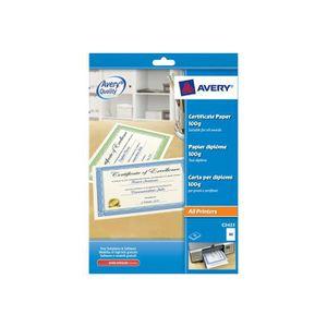 PAPIER IMPRIMANTE Avery C2428 Papier pour certificats blanc, bordure