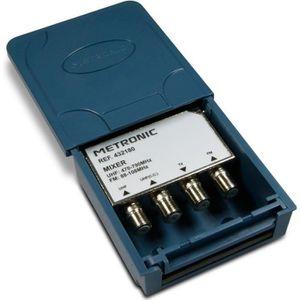 ANTENNE RATEAU METRONIC 432180 Coupleur d'extérieur FM/UHF/UHF 3