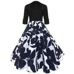 ROBE Women Fashion Robe Vintage Années 50 Audrey Hepbur