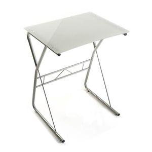 BUREAU  Table de bureau pour ordinateur blanche - L 60 x l