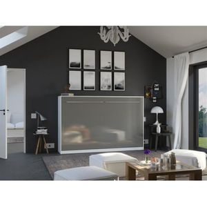 LIT ESCAMOTABLE SMARTBett Standard 120x200 horizontal blanc/anthra