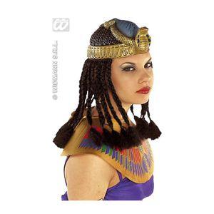 CHAPEAU - PERRUQUE Coiffe De Cléopâtre Avec Cheveux
