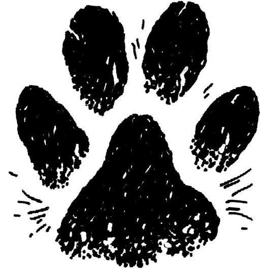 Tampon en bois Patte de chien 25x22mm - Artémio Non Pertinent