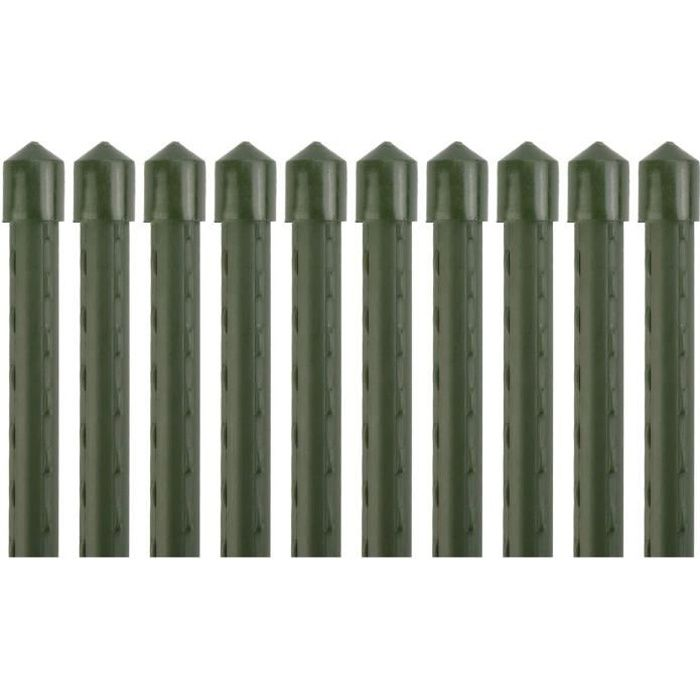 Pack de 10, tuteurs pour plantes, diamètre 10.5mm, Longeur 145cm, Supports de plantes, Tige de soutient pour plantes