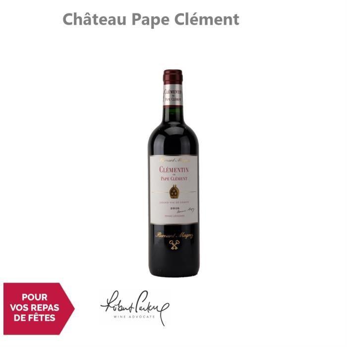 Château Pape Clément Le Clémentin de Pape Clément Rouge 2016 - 75cl - Appellation AOC Pessac-Léognan - Vin Rouge de Bordeaux -