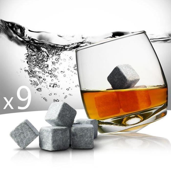 Lot De 9 Pierres À Whisky