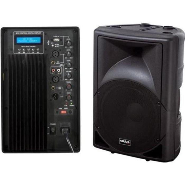 ENCEINTE SONO HAUT PARLEUR PORTABLE MOBILE ACTIVE AMPLIFIEE 15- 300W USB/MP3