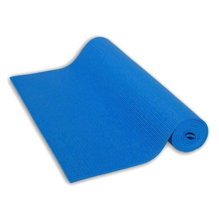 Lot de 12 - Tapis de yoga 173 x 61cm bleu