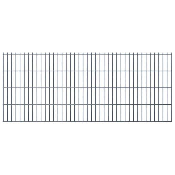 Elégant Clôture Style Contemporain 2D Panneau de clôture - Clôture Grillage 2008x830 mm Gris ☺79515