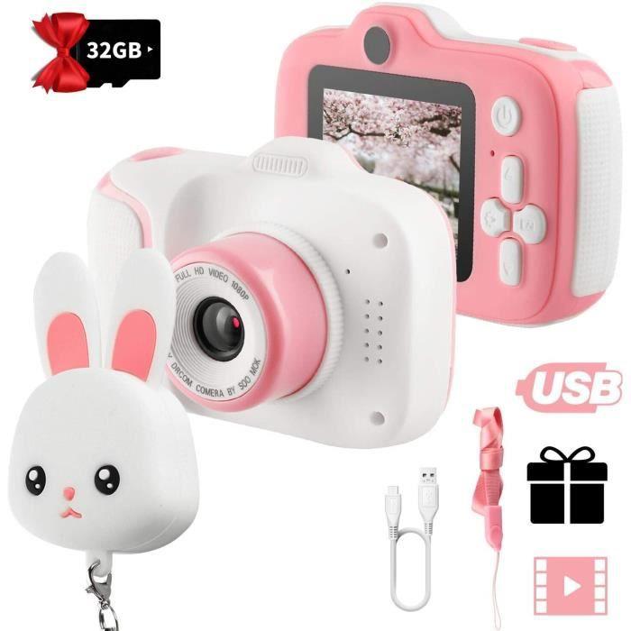Appareil photo enfants, Enfants Écran HD de 2 Pouces 1080P avec Carte mémoire de 32 Go,pour Appareil Photo pour 3 à 12 Ans Enfants