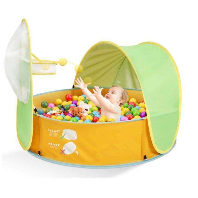 2 in 1 Piscine Tente pour Enfants, Piscine à Balles Pop-up, Tente Facile Pliant pour Intérieur Extérieur,Cadeaux pour Les Enfants