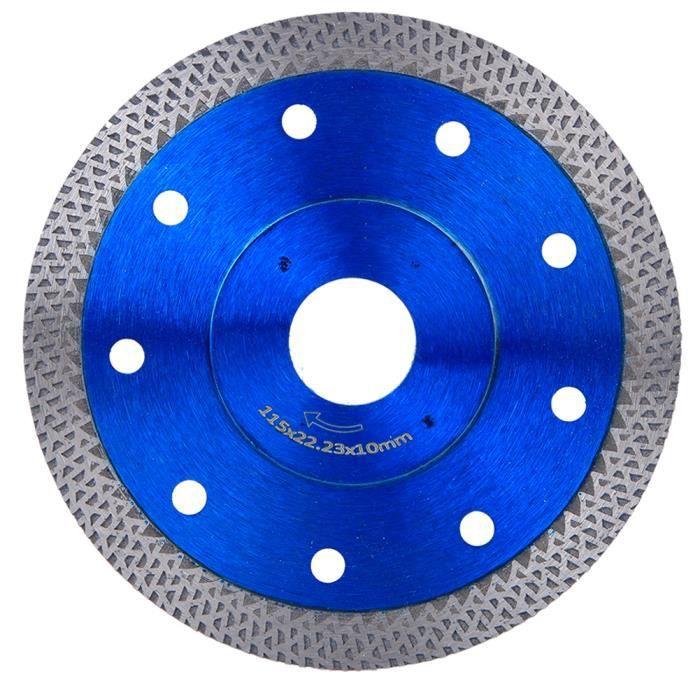 Tbest Lame de scie Kit de remplacement de meuleuse d'angle de roue de coupe de lame de scie diamantée pour marbre de béton