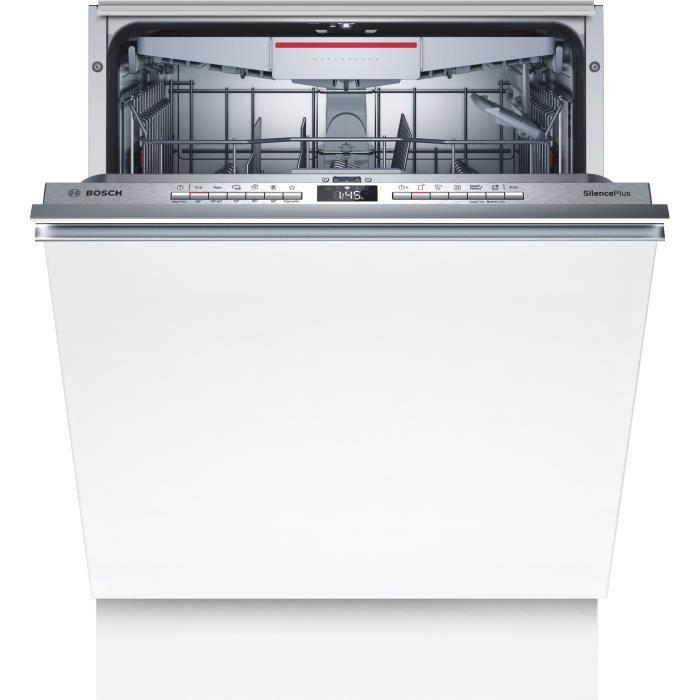 Lave-vaisselle tout intégrable BOSCH SMV4HCX48E - 14 couverts - Moteur induction - Largeur 60cm - Classe D - 44dB