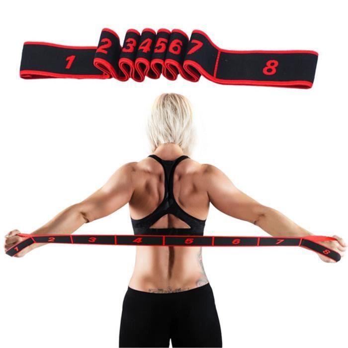 Elastique fitness Yoga Femmes Sport Bandes de résistance musculation ceinture danse latine elastiband corde ruban extenseur sangle