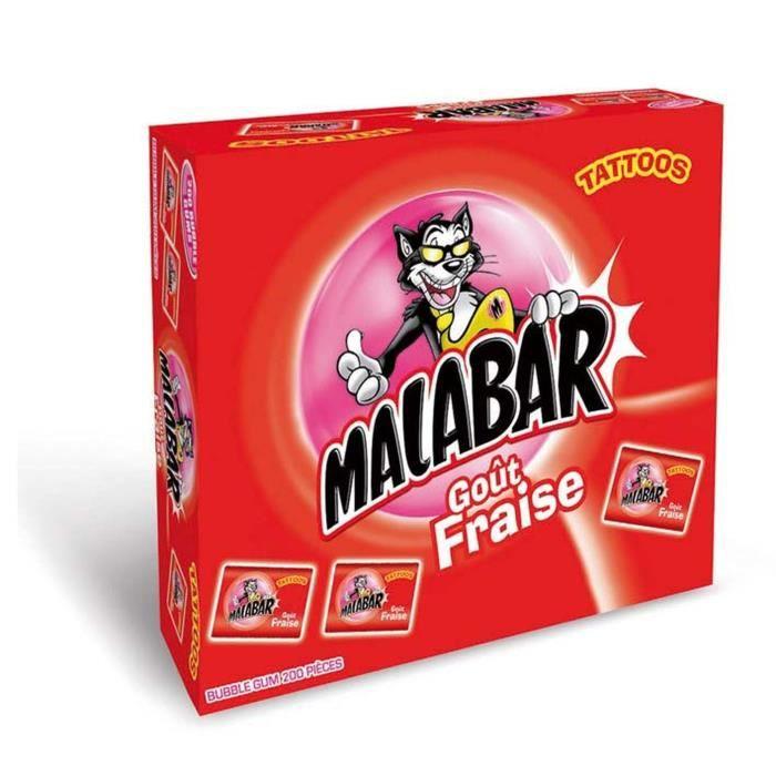 MALABAR Boîte de Chewing-gum aux Fraises - 200 pièces