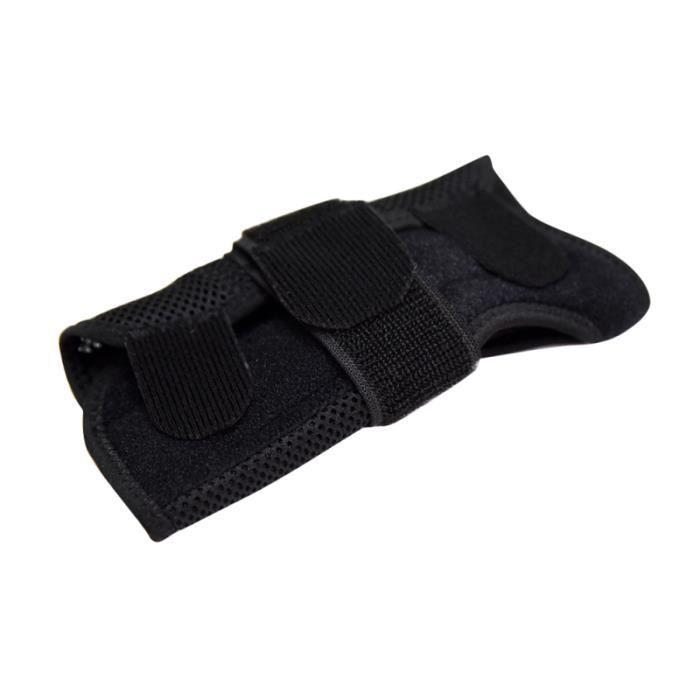 Attelle de poignet de soutien de noir respirant 1PC pour le tunnel carpien de soulagement de la douleur de tendinite