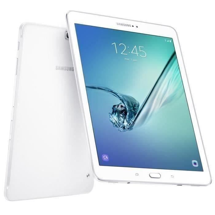 Tablette Tactile - Samsung Galaxy Tab S2 - 9,7- - RAM 3Go - Android 6.0 - Stockage 32Go - 4G/WiFi - Blanc