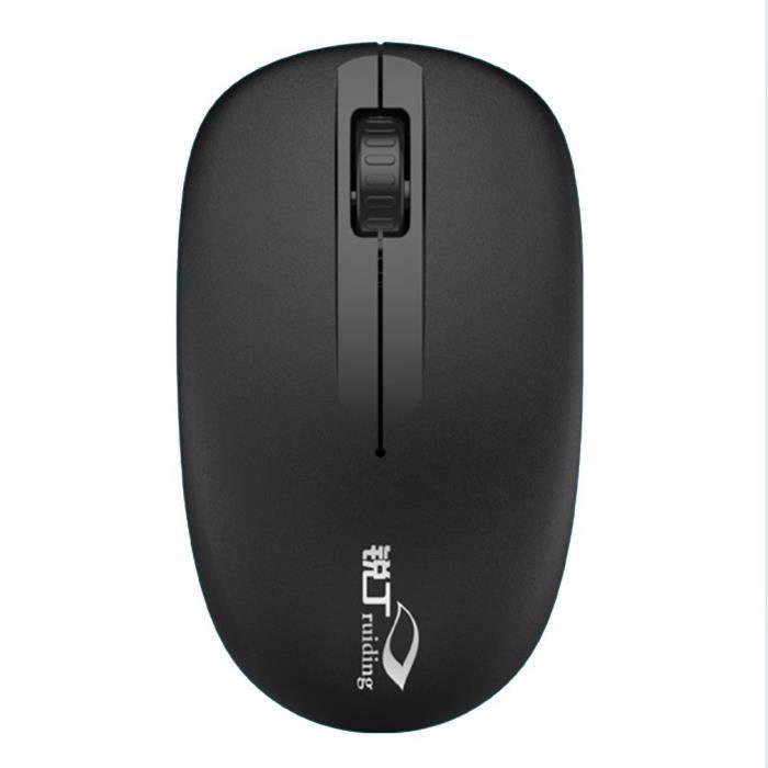 General Computer Mouse Souris sans fil rechargeable Silent Ultra Thin Mouse, noir