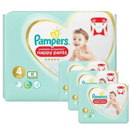 Pampers - 247 couches bébé Taille 4 premium protection pants