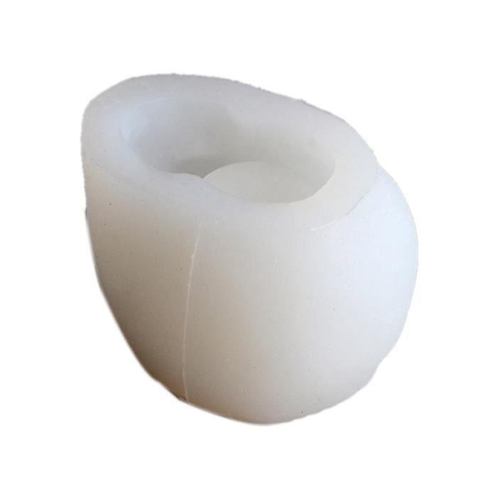 Silicone BéTon Moules GéOméTrique Crâne Pot de Fleurs Moule à la Main Ciment Planteur Moule Porte-Stylo Outil