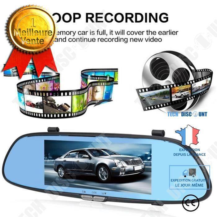 TD® Caméra de Recul 7 pouces de Voiture, Ecran Tactile Rétroviseur de Voiture, Vision Nocturne 1080 P Full HD / Haute qualité