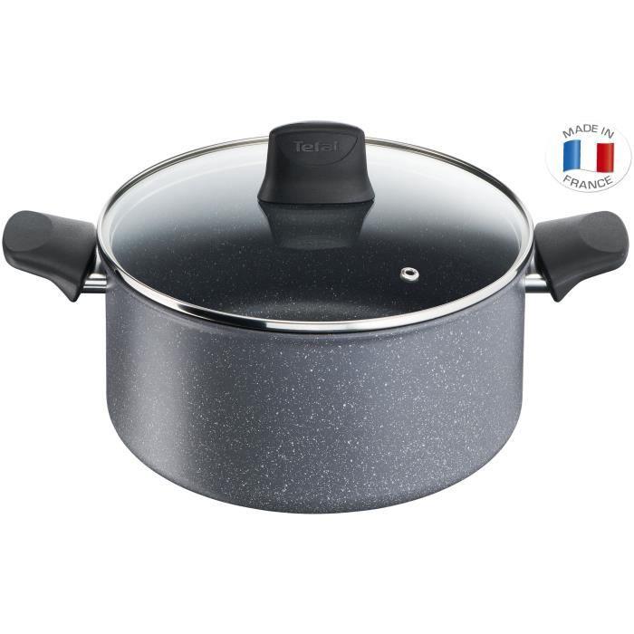 TEFAL - G1224602 - CHEF Effet Pierre - Faitout - 24 cm (5 L)