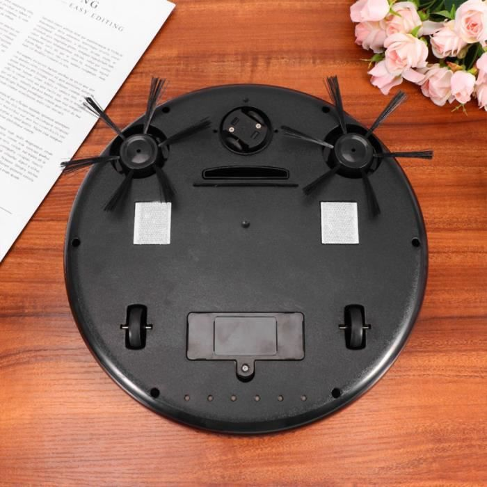 1PC 4-in-1 Sweeping Robot Smart Automatic UV Vacuum Cleaner Dust Catcher for Home (Black) ASPIRATEUR ROBOT