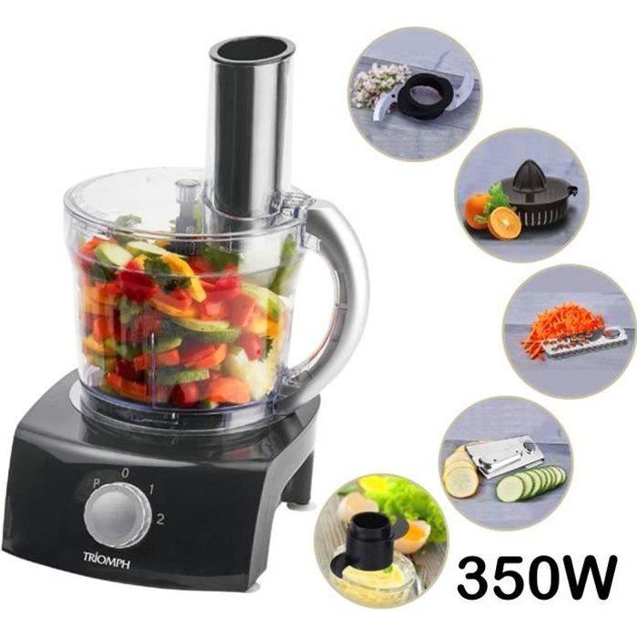 Robot de cuisine multi fonctions 1L - 350W - Noir