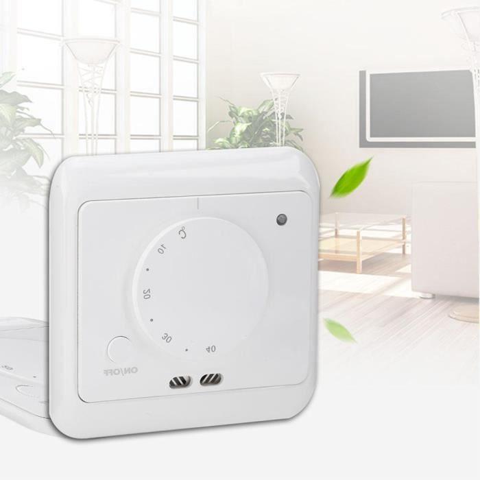 AC 230 V Manuel Sol Chauffage Thermostat contrôle de température pour la Maison Chambre Bureau
